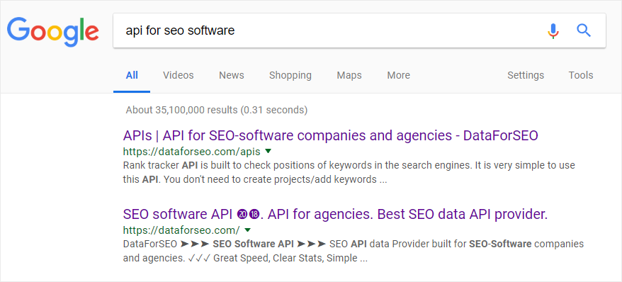 SERP rank position checker API ⓴⓳ SERP analysis and