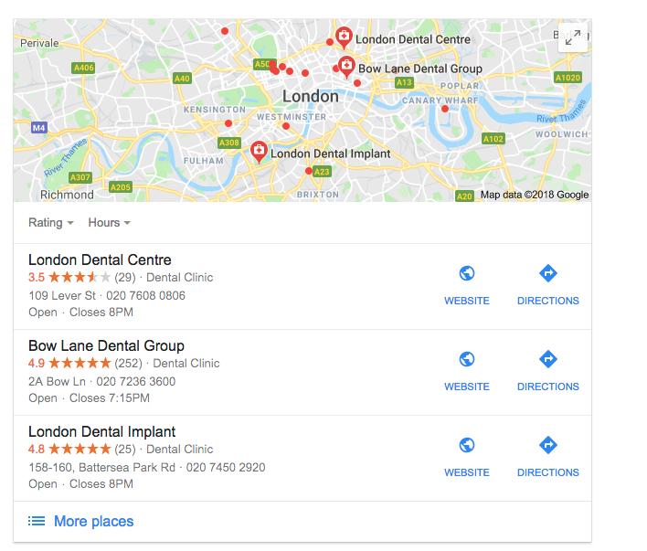 dentist london