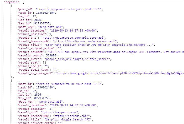 SERP rank position checker API ⓴⓳ SERP analysis and