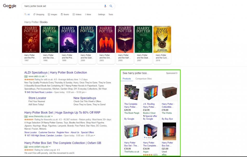 Google Shopping rich snippet