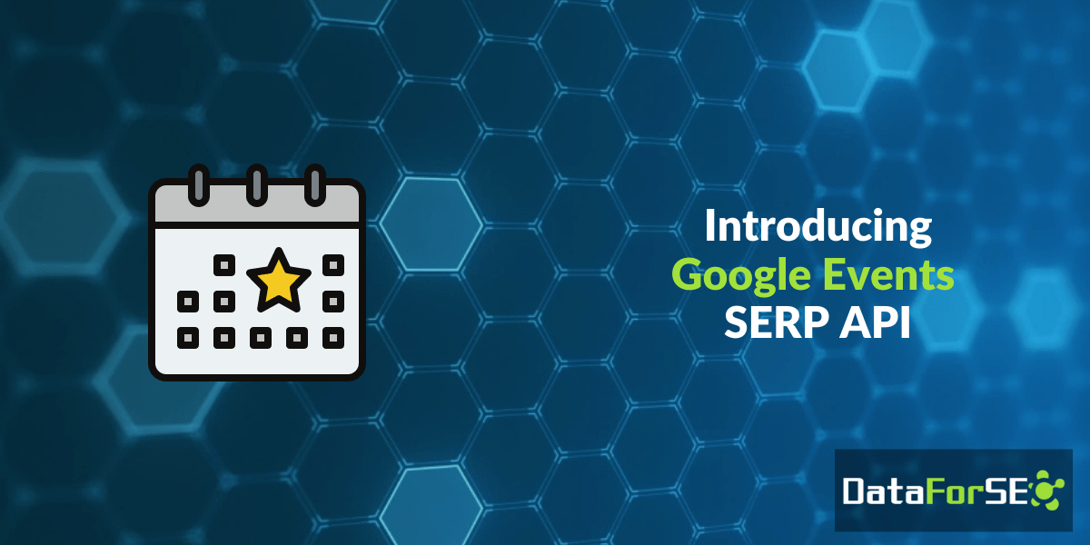 Google Events SERP API