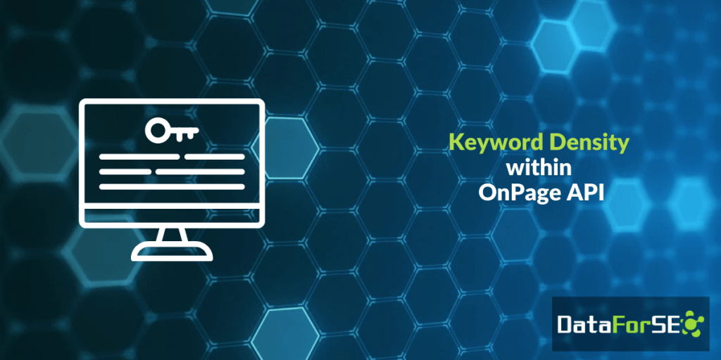 Keyword Density within OnPage API